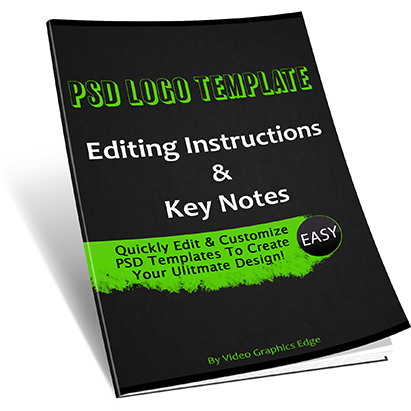 PSD Template Editing Customization Instruction eBook